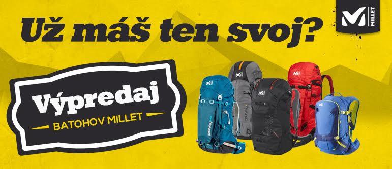 Výpredaj turistických a horolezeckých batohov Millet